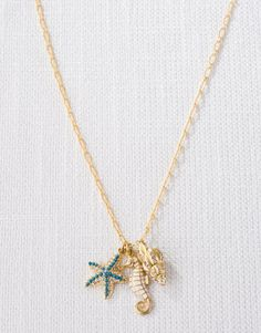 Three Charm Necklace $43 #spartina #wrapsodiesgifts.com