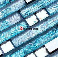 Stal nierdzewna ssmt159 niebieski szklane płytki backsplash mozaiki szklanej płytki diamentowe szklane płytki ścienne mozaiki kuchnia łazienka