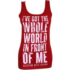 Sleeping With Sirens World Ladies Red Vest