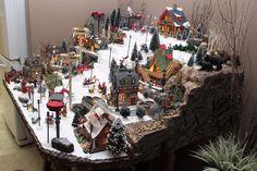 Ski Hill Diy Christmas Village Displays, Lemax Christmas Village, Halloween Village, Christmas Town, Christmas Villages, Noel Christmas, Outdoor Christmas, Christmas Crafts, Ski Hill