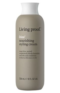 "Living proof® 'No Frizz' Styling Cream.  Best styling cream and frizz blocker on the market EVER! I have been using :""Living Proof"" products before they came on the market as I was part of a trial. So impressed. As a woman with the frizziest hair in the universe I would highly recommend."