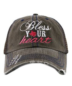 Look at this Brown 'Bless Your Heart' Trucker Hat on #zulily today!
