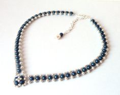 Champagne Pearl Bridal Necklace Wedding Jewelry by MelJoyCreations