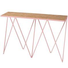 Giraffe pöytä, OSB/vaaleanpunainen