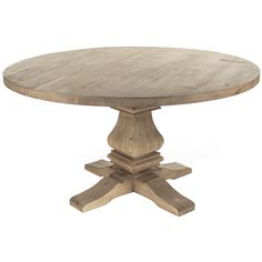 Enjoy your breakfast, lunch, or dinner at the Provence Round Pedestal Dining Table. The strong and durable wood provides a great dining experience while the rounded table top offers safety and comfort while you feast. Shop Provence dining tables now. Dining Table With Drawers, Farmhouse Dining Table Set, French Country Dining Table, Round Pedestal Dining Table, Country Farmhouse, Round Tables, Kitchen Tables, Dinning Table, Farmhouse Chic