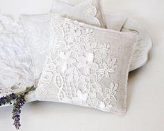 Linen and Lace Lavender Sachet