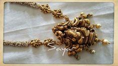 India Jewelry, Temple Jewellery, Gold Jewelry, Jewelery, Indian Jewellery Design, Latest Jewellery, Jewelry Design, Gold Ornaments, Jewelry Patterns