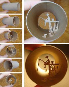 Paper art in a tube