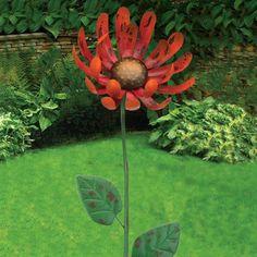 Set of 6 Metal Butterfly Garden Pot Stick Ornament Decoration