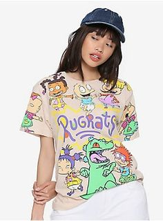 Rugrats Jumbo Allover Character Print Girls T-Shirt Stylish Toddler Girl, Toddler Boy Fashion, Kids Fashion, Cute Comfy Outfits, Cool Outfits, Cartoon Outfits, Fall Fashion Outfits, Disney, Kids Outfits
