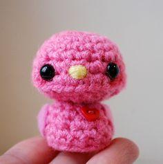 Pink Baby Bird - Kawaii Mini Amigurumi