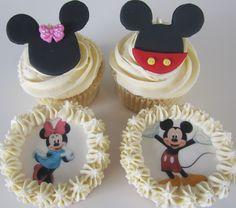 Minnie & Mickey Vanilla Cup Cakes