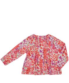 Liberty London Childrenswear Pink Birkbeck Cotton Blouse | Kids | Liberty.co.uk