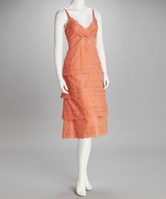 Going to Florida soon, I could totally rock this Coral Eyelet Dress!  ;)
