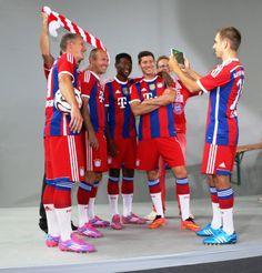 with Bayern team