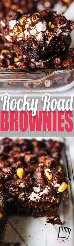With a box of brownie mix and a handful of other ingredients you can have these outrageous rocky road brownies that are sure to impress without spending a ton of time in the kitchen!