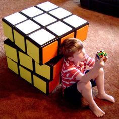 This is a large rubik's cube drawer unit and it spins too!