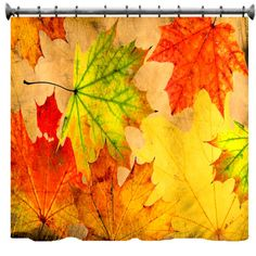 Autumn Leaves Grunge Shower Curtain  69 x 70 by susanakame1, $89.00