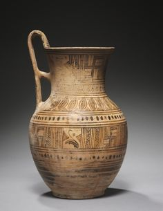 Vase, c. 700s BC Greece, c. 8th Century BC  earthenware