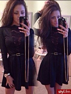 black lace dress... Want this dress so bad