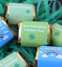 St. Patrick's Day Friendship Candy Bar Wrappers #Crafts #StPatricksDay