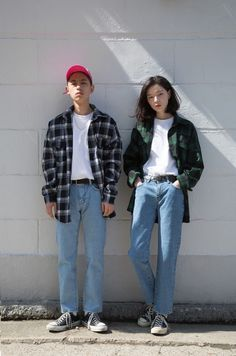 47 Ideas for fashion hipster casual menswear Fashion 90s, Fashion Couple, Look Fashion, Korean Fashion, Street Fashion, Fashion Outfits, Fashion Trends, Trendy Fashion, Skate Fashion