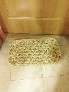sisal crochet XL rug / felpudo de sisal con ganchillo XL