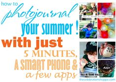 How to easily photojournal your summer in five minutes a day #photography  #apps  #summeractivities