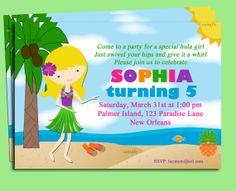 Luau Birthday Invitation Printable  You Pick by ThatPartyChick, $15.00