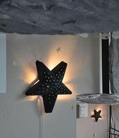 zwart gespoten ikea-lamp