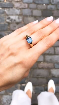 A bespoke sapphire engagement ring by this coveted London jeweller...read more at The Cut London.