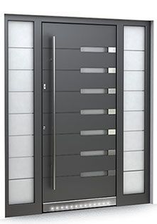 Premium modern front doors including Pivot Doors, low maintenance, high security Secured by Design & and thermal insulation in vast range of styles. Flush Door Design, Home Door Design, Door Gate Design, Door Design Interior, Grill Door Design, Front Gate Design, Modern Entrance Door, Main Entrance Door Design, Wooden Front Door Design