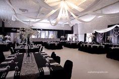 Wedding decor, black and white.