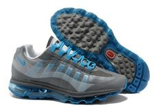Nike Air Max 95 360 Mens Shoes Grey Blue For Winter hiOVE