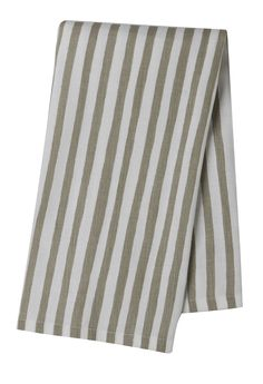 Pehr Selby Collection Taupe Stripe Tea Towel