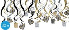 Gold and Silver New Years Hanging Decorations - Party City
