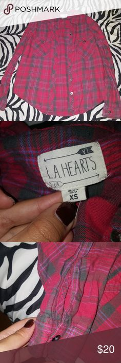 Pacsun LA Hearts Flannel I got it from Pacsun. I wore this 4-5 times until it got small on me. It's in pretty good condition. Feel free to offer! La Hearts Other