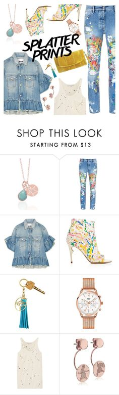 """""""splatter!"""" by thepommier ❤ liked on Polyvore featuring Palm Angels, MSGM, Jerome C. Rousseau and Kain"""