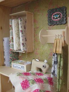 Miniature quilt shop