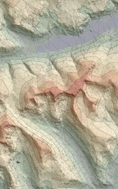 Topographic Map // Knew Graphic Inspiration Planer Layout, Contour Line, 3d Modelle, Topographic Map, Illustration, Map Design, Data Visualization, Architecture Visualization, Architecture Plan
