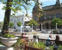Southport town centre town hall gardens - Southport, England