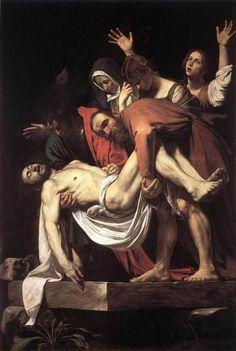 """""""Mise au Tombeau"""", Caravaggio, 1603. Musei Vaticani."""