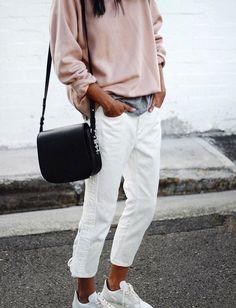 Pantalones blancos también en invierno- ElleSpain