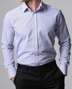Light Blue Dress Shirts, Custom Fit http://moderntailor.com ...