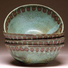 Hand Made Soup and Cereal Bowls by Mangum Pottery in Weaverville, North Carolina