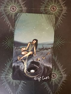 Featured Card of the Day – 5 of Cups – Lightseer's Tarot by Chris-Anne Donnelly Tarot By Cecelia, Diy Deck, Daily Drawing, Oracle Cards, Dark Night, Tarot Decks, Deck Of Cards, Witchcraft, Illusions