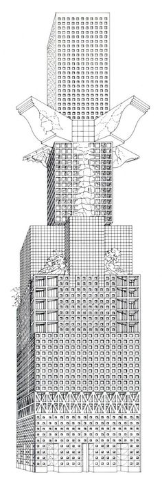 Architectural Drawings Of Skyscrapers fritz hÖger - design for a 250m-tall skyscraper in hamburg, 1937