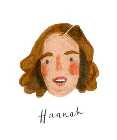 'Hannah' from GIRLS (by nina cosford).