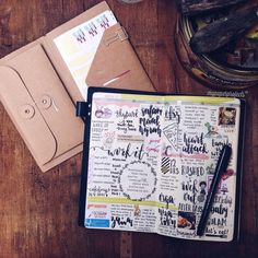 """""""Last week, week 42 in my TN. . I think the haze got to me. Been feeling kinda weird and sluggish with a slight sore throat the whole day. . #planner…"""""""