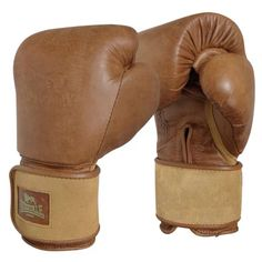 Vintage Lonsdale boxing gloves leather tan colour